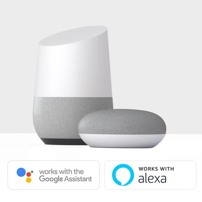 Robotstofzuigers met voice control werken via Google Home (Google Assistant) en Amazon Alexa