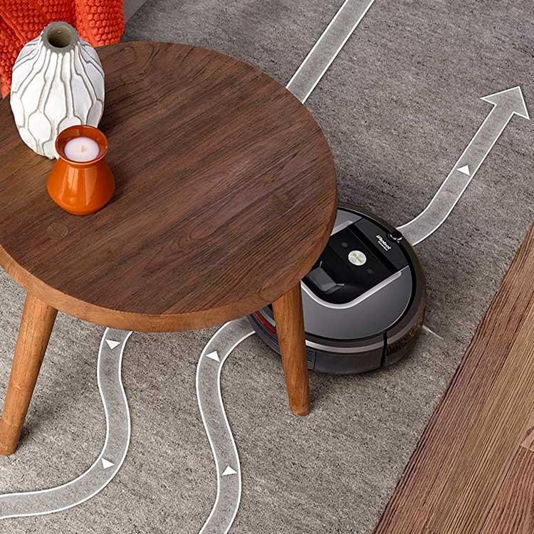 iRobot Roomba 960 automatische navigatie is perfect voor het ontwijken van meubels